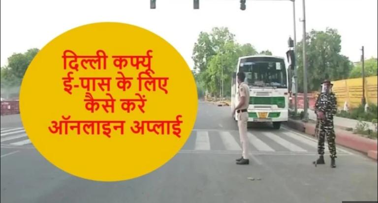 Delhi e-pass online